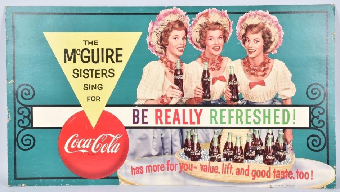 COCA COLA McGUIRE SISTERS ADVERSTISING SIGN
