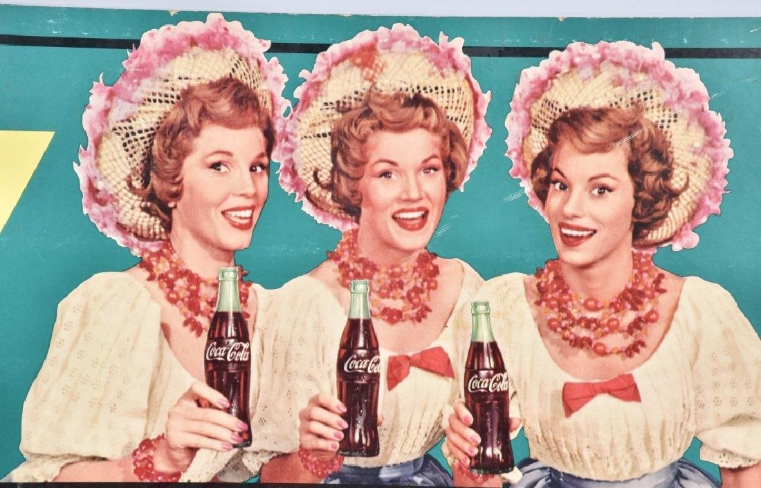 COCA COLA McGUIRE SISTERS ADVERSTISING SIGN - 2