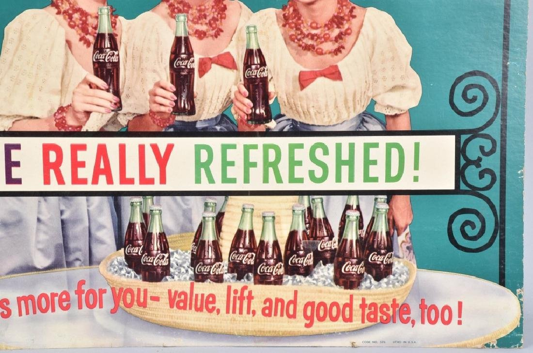 COCA COLA McGUIRE SISTERS ADVERSTISING SIGN - 3