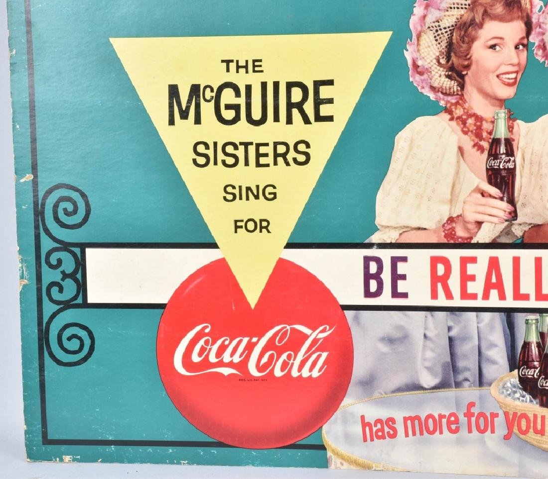 COCA COLA McGUIRE SISTERS ADVERSTISING SIGN - 4
