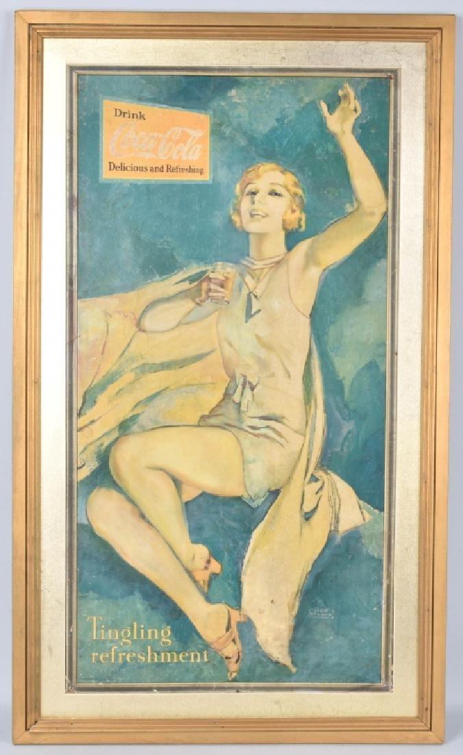 1931 LARGE COCA COLA ADVERTSING SIGN