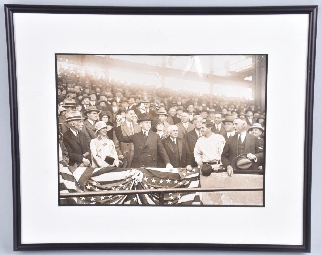 CALVIN COOLIDGE PHOTO at WORLD SERIES 1925