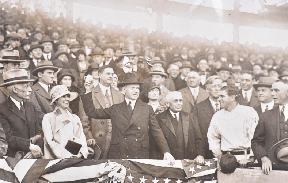 CALVIN COOLIDGE PHOTO at WORLD SERIES 1925 - 2