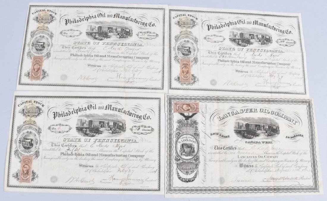 4-1864 OIL STOCK CERTIFICATES