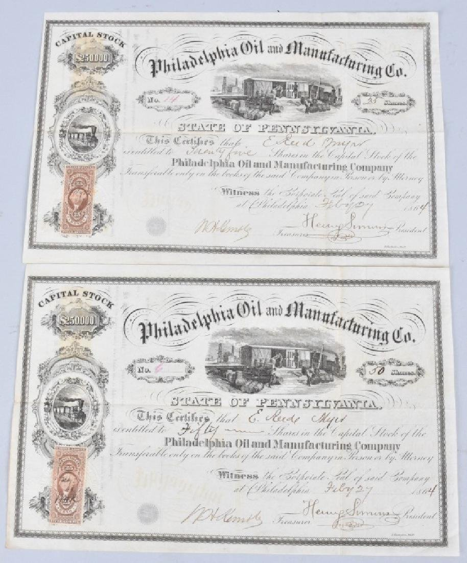 4-1864 OIL STOCK CERTIFICATES - 2