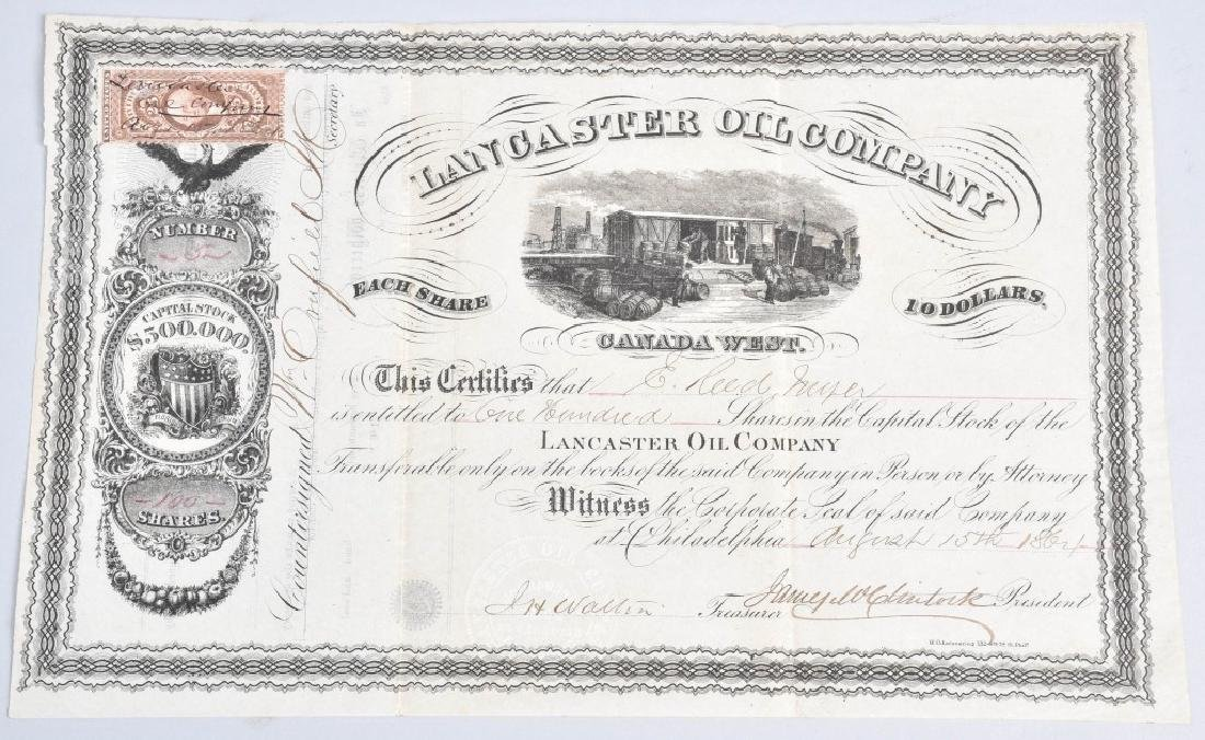 4-1864 OIL STOCK CERTIFICATES - 3