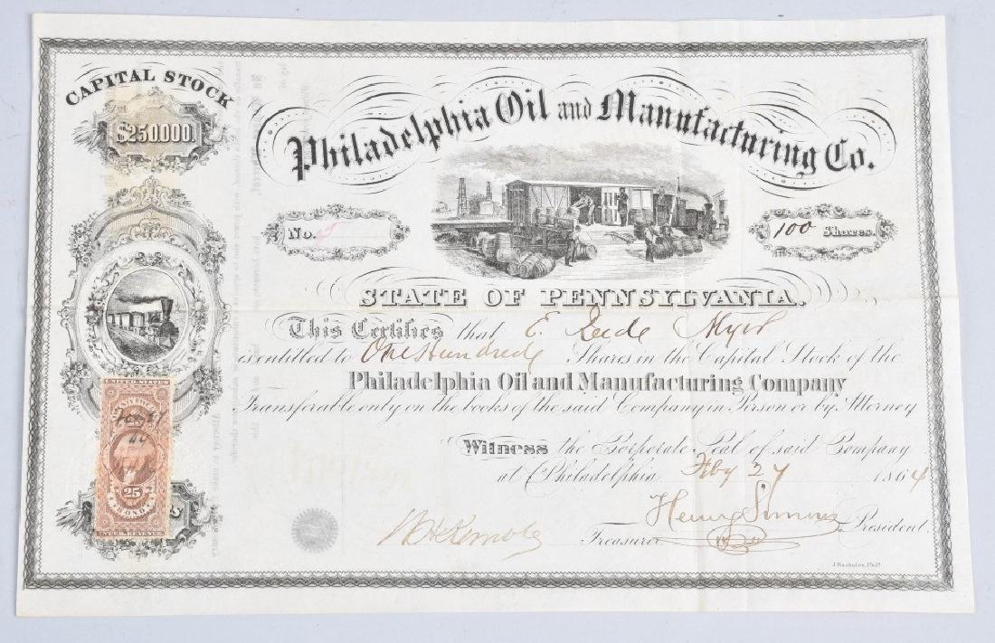 4-1864 OIL STOCK CERTIFICATES - 6