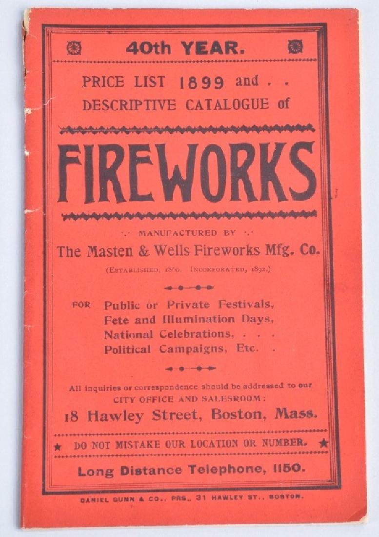1899 FIREWORKS CATALOG and LABELS - 2