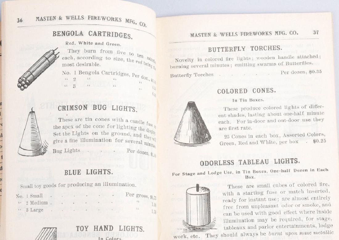 1899 FIREWORKS CATALOG and LABELS - 3