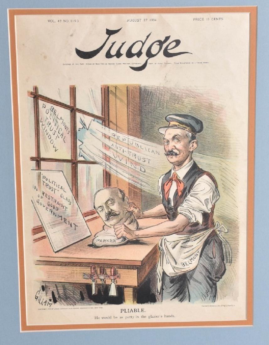 7-JUDGE POLITICAL CARTOONS, VINTAGE - 4