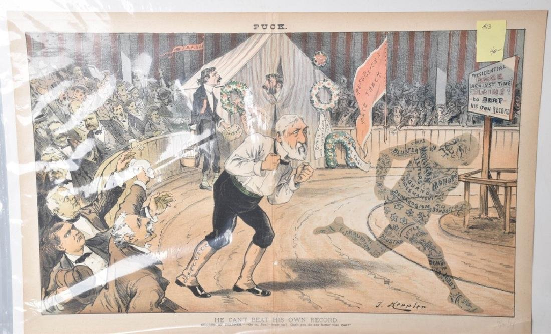 7-JUDGE and PUCK POLITICAL CARTOONS, VINTAGE - 2