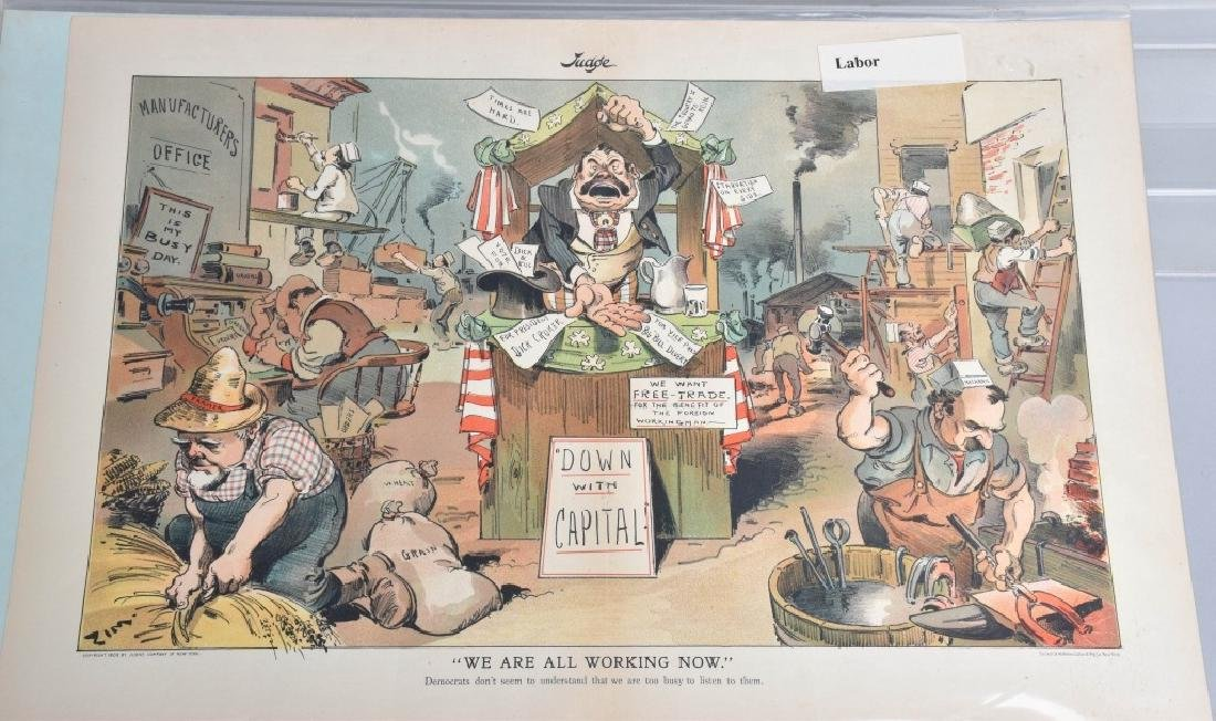 7-JUDGE and PUCK POLITICAL CARTOONS, VINTAGE - 5
