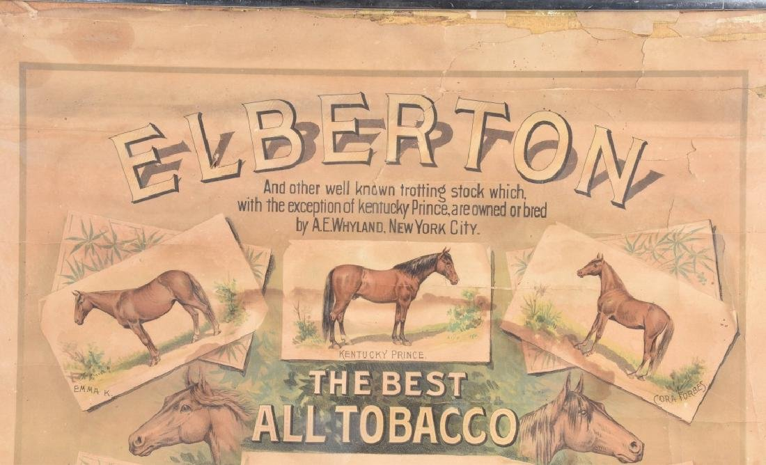 ELBERTON TOBACCO & CIGARETTE ADVERTISING POSTER - 2