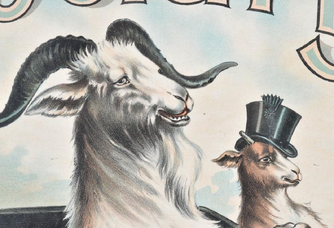 1910 SPECIAL BOCK BEER AUTO & GOATS POSTER - 4