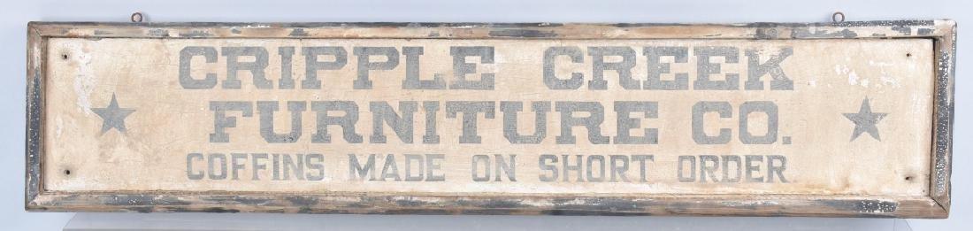 CRIPPLE CREEK FURNITURE WOOD TRADE SIGN