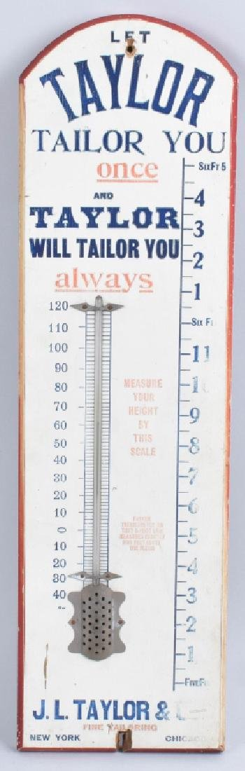 TAYLOR FINE TAYLORING WOOD THERMOMETER