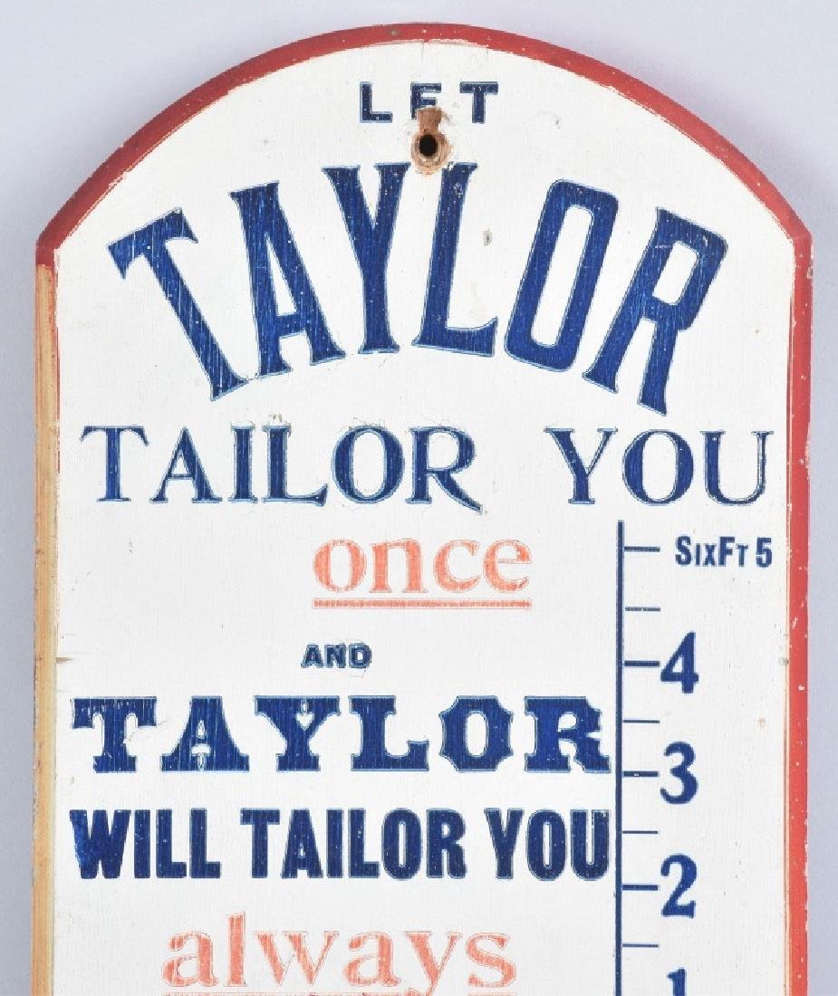 TAYLOR FINE TAYLORING WOOD THERMOMETER - 2