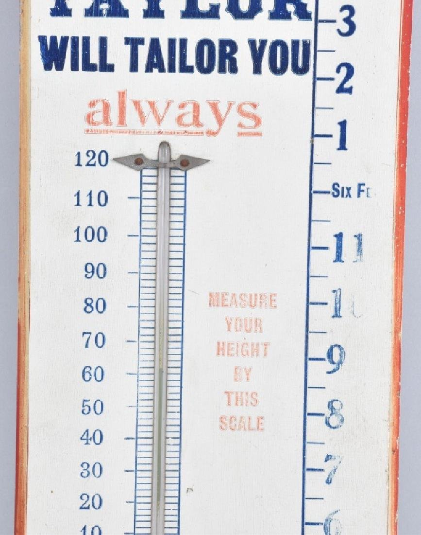 TAYLOR FINE TAYLORING WOOD THERMOMETER - 3