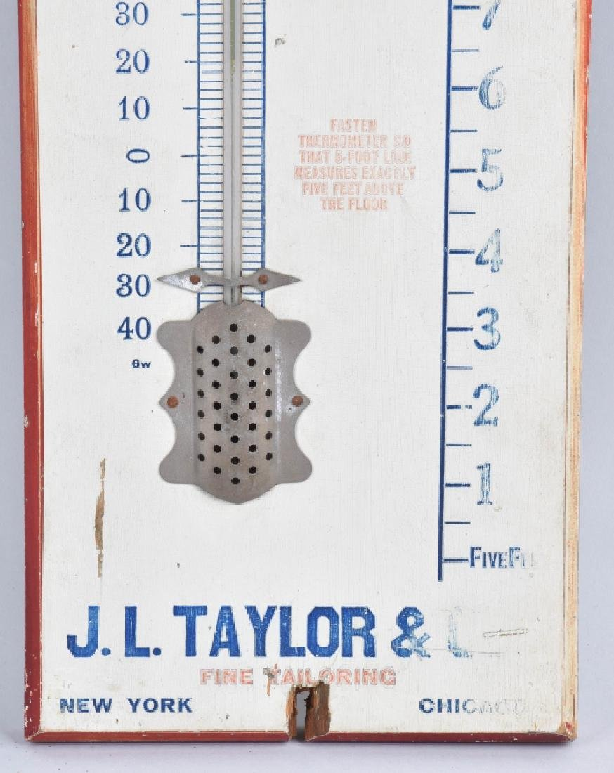 TAYLOR FINE TAYLORING WOOD THERMOMETER - 4