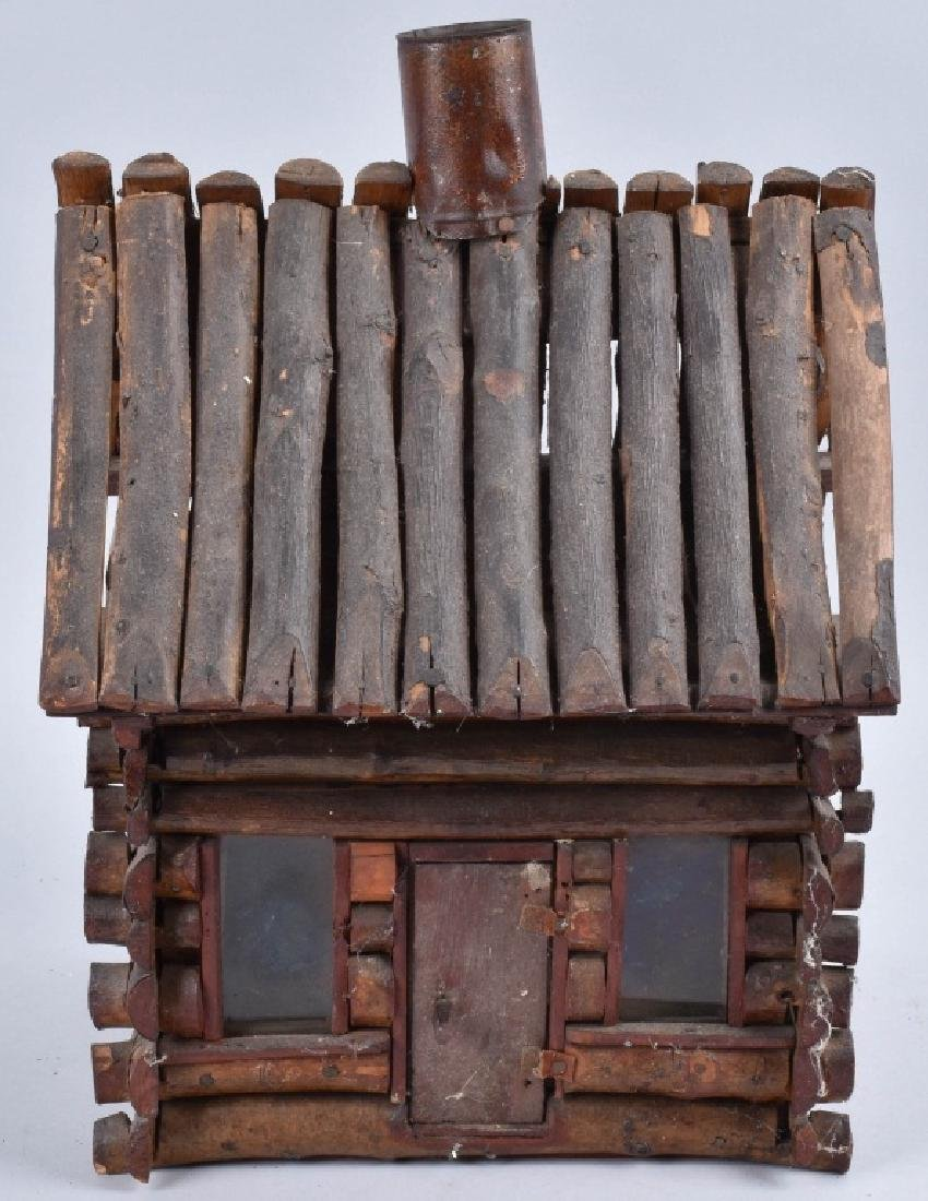 1900s FOLK ART LOG CABIN