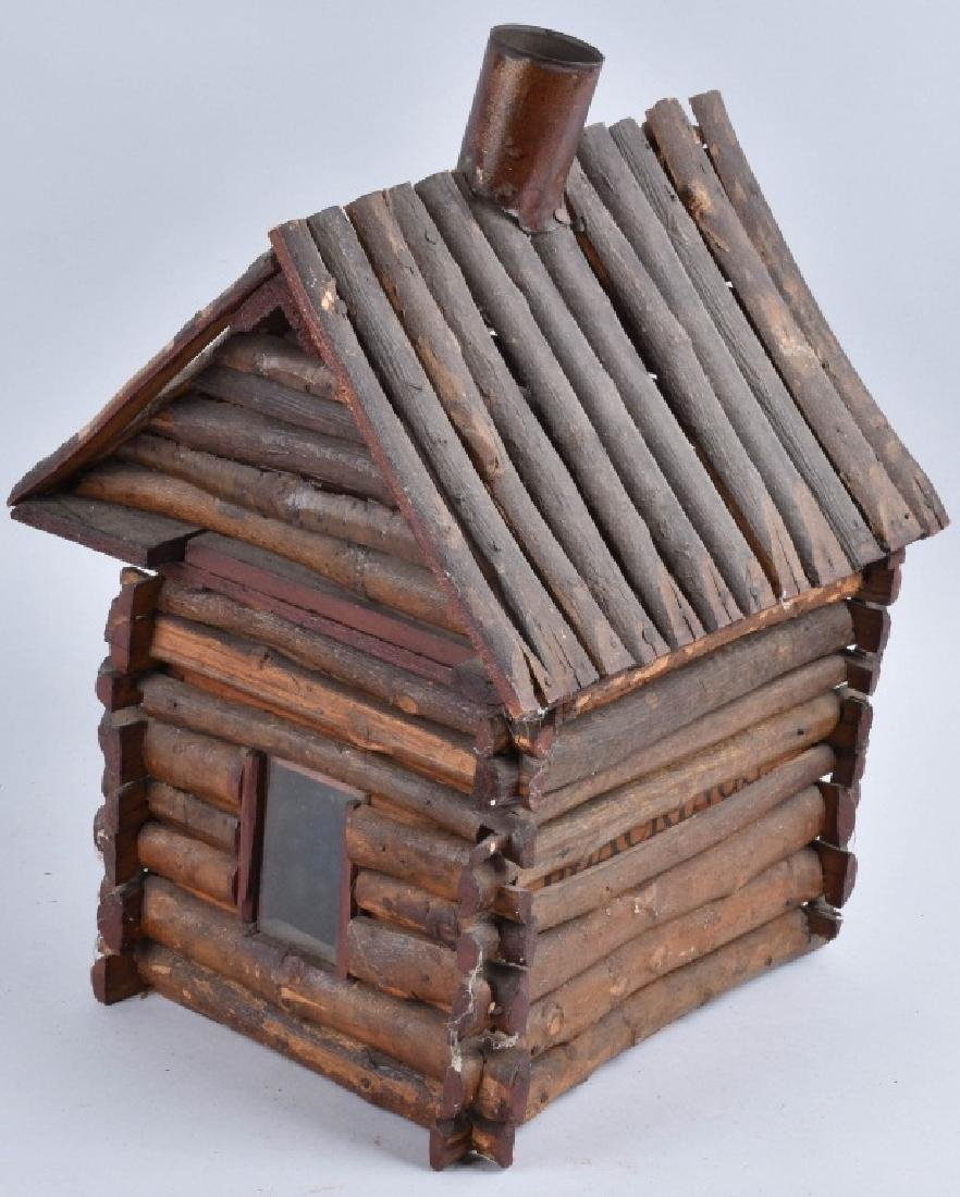 1900s FOLK ART LOG CABIN - 3