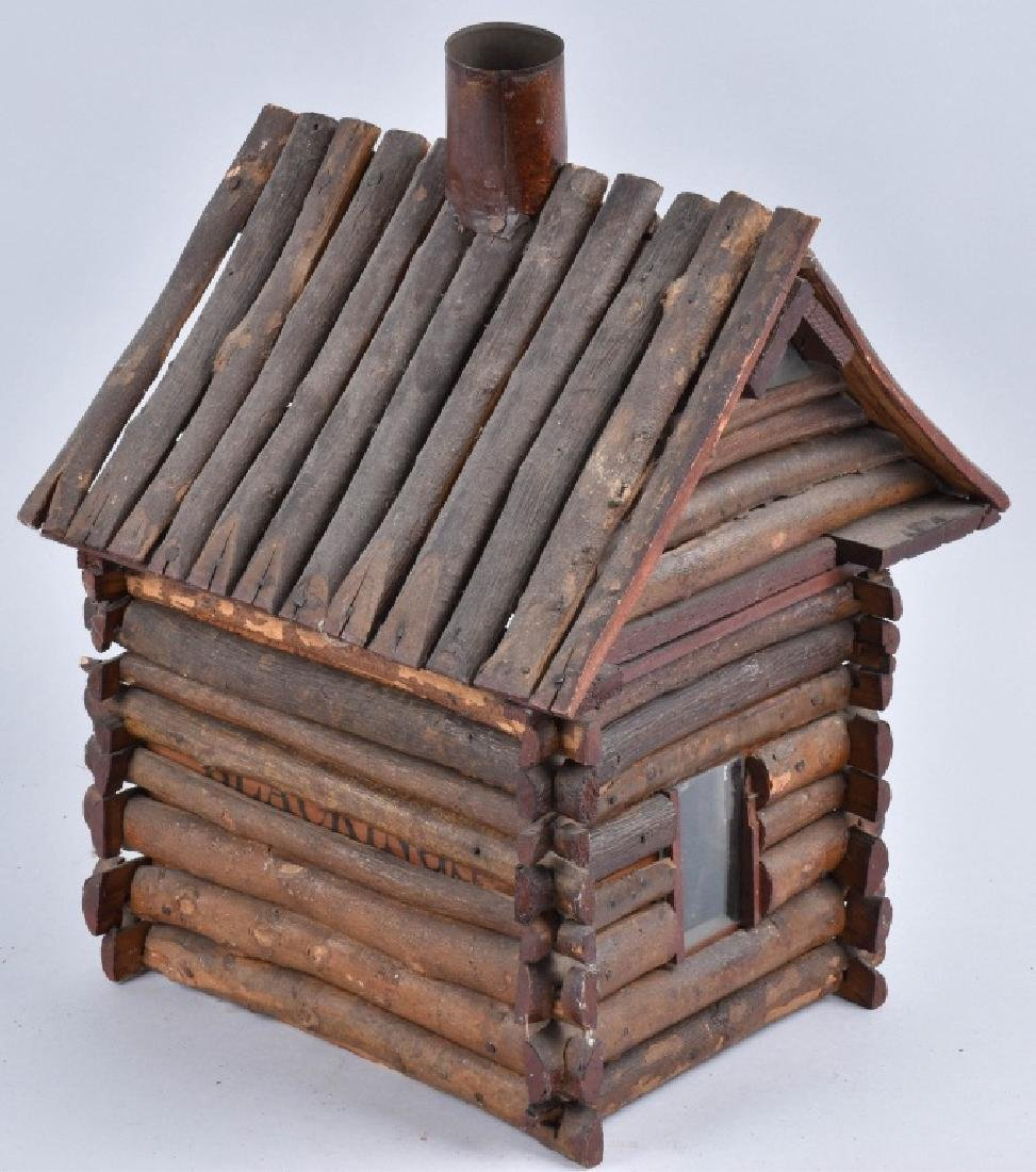 1900s FOLK ART LOG CABIN - 4