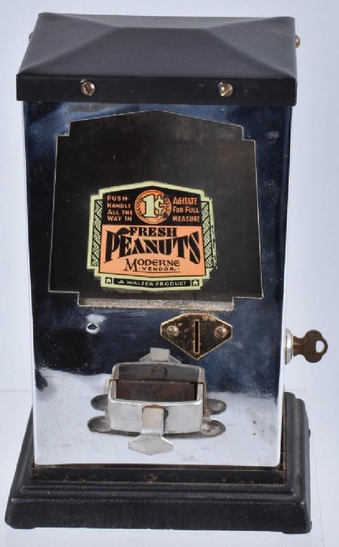 1935 WALZER MODERNE COIN OP PEANUT VENDOR
