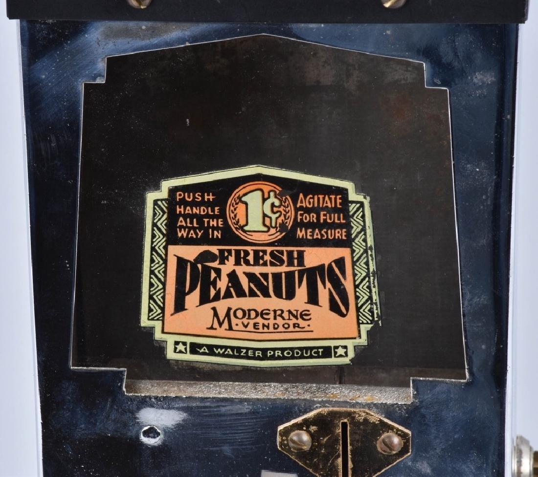 1935 WALZER MODERNE COIN OP PEANUT VENDOR - 2