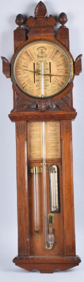 1800s TORICELLI IMPROVED WALL BAROMETER