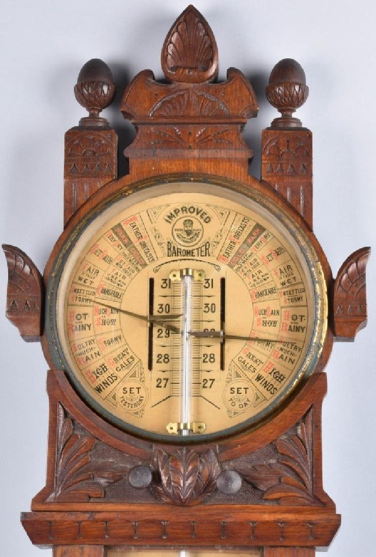 1800s TORICELLI IMPROVED WALL BAROMETER - 2