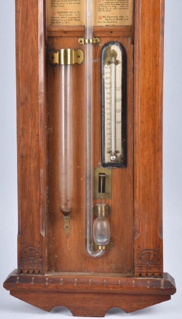 1800s TORICELLI IMPROVED WALL BAROMETER - 4