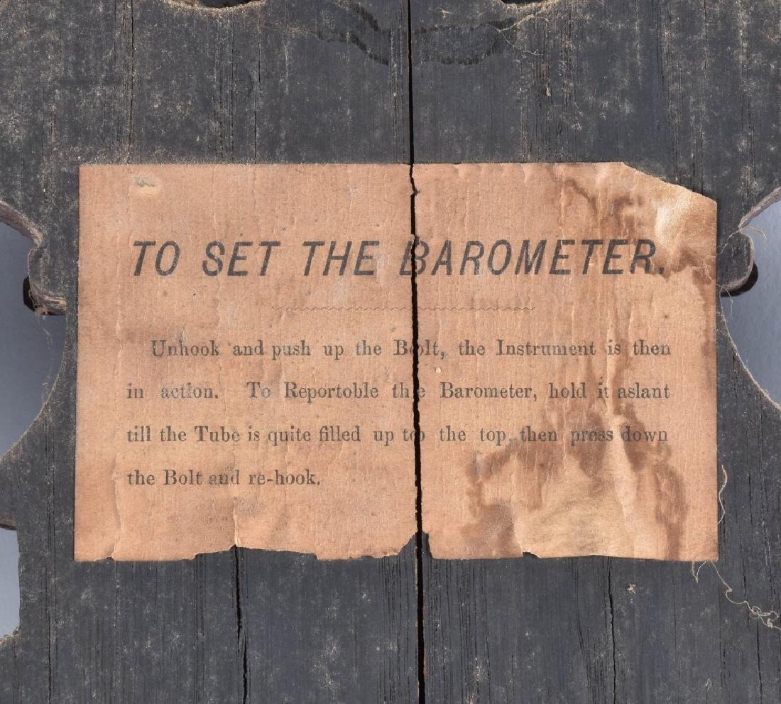 1800s TORICELLI IMPROVED WALL BAROMETER - 7