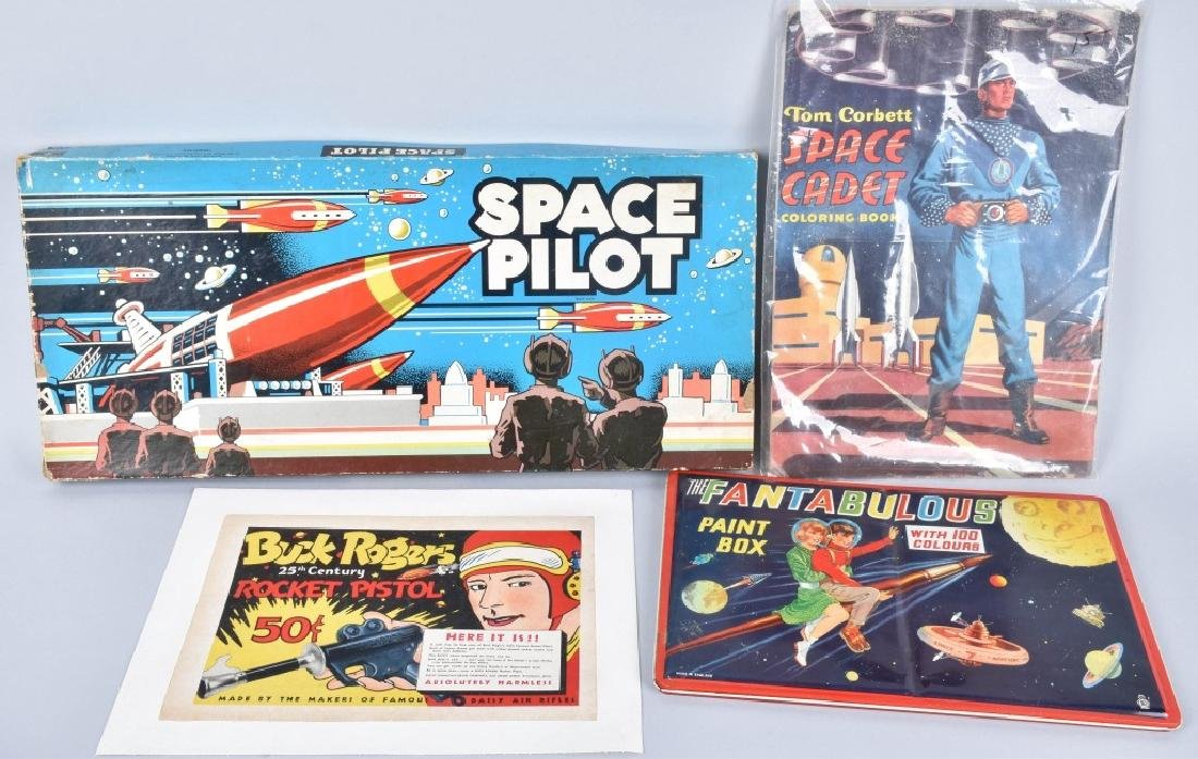 4-SPACE ITEMS, BUCK ROGERS, SPACE PILOT and MORE