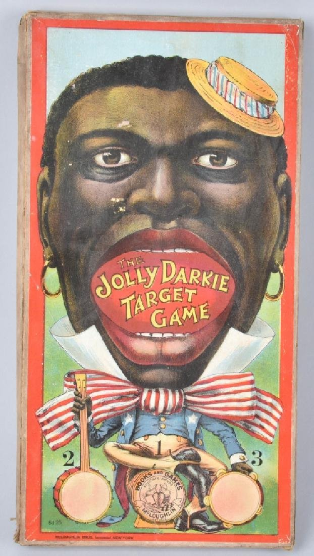 MCLOUGHLIN BROS. JOLLY DARKY TARGET GAME - 2