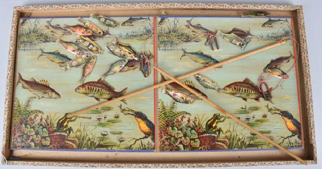 1891 MCLOUGHLIN BROS. MAGNETIC FISH POND GAME - 2