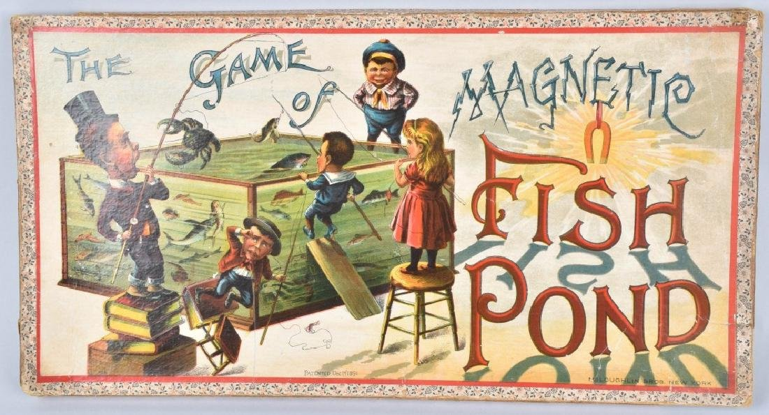 1891 MCLOUGHLIN BROS. MAGNETIC FISH POND GAME - 3