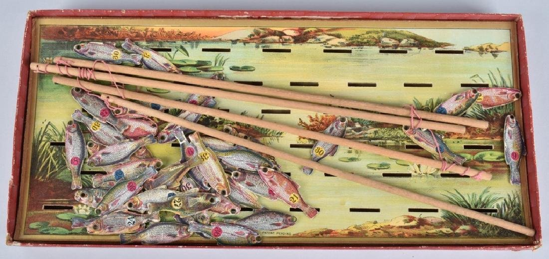 1890s McLOUGHLIN BROS NEW IMPROVED FISH POND GAME