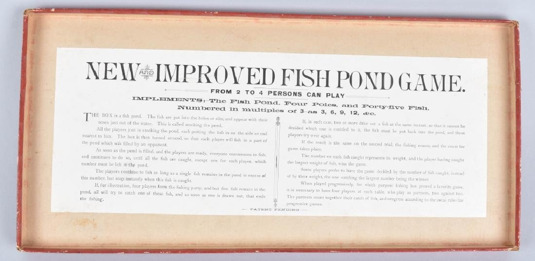 1890s McLOUGHLIN BROS NEW IMPROVED FISH POND GAME - 3