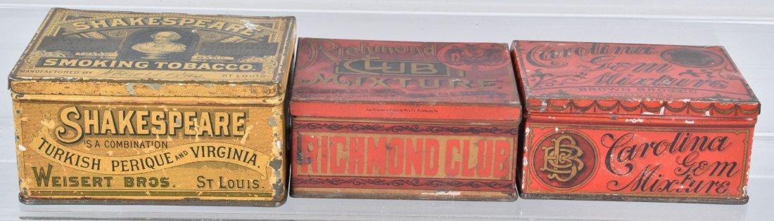 SHAKESPEARE, RICHMOND, & MORE TOBACCO TINS - 2