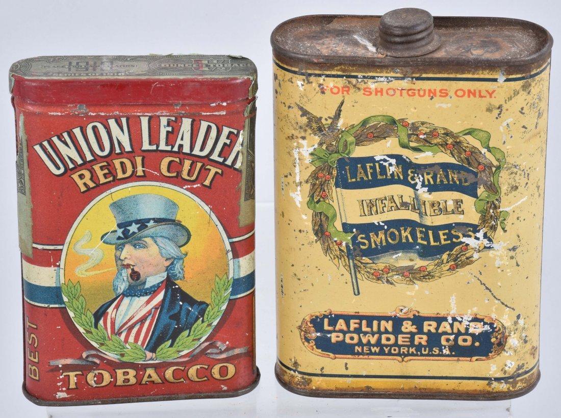UNION LEADER, LAFLIN & RAND TOBACCO TINS & MORE - 2