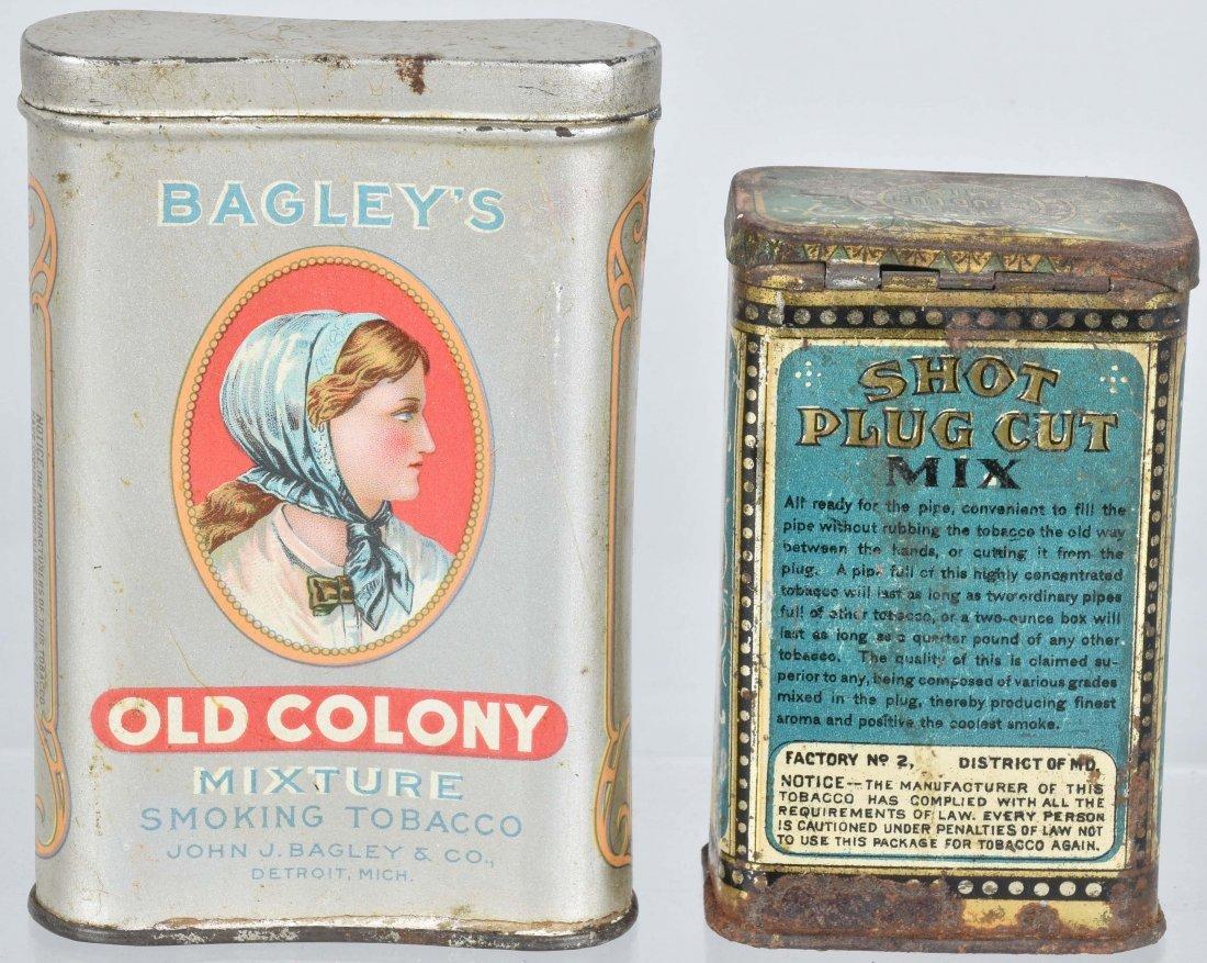 OLD COLONY & SHOT PLUG CUT TOBACCO TINS - 2