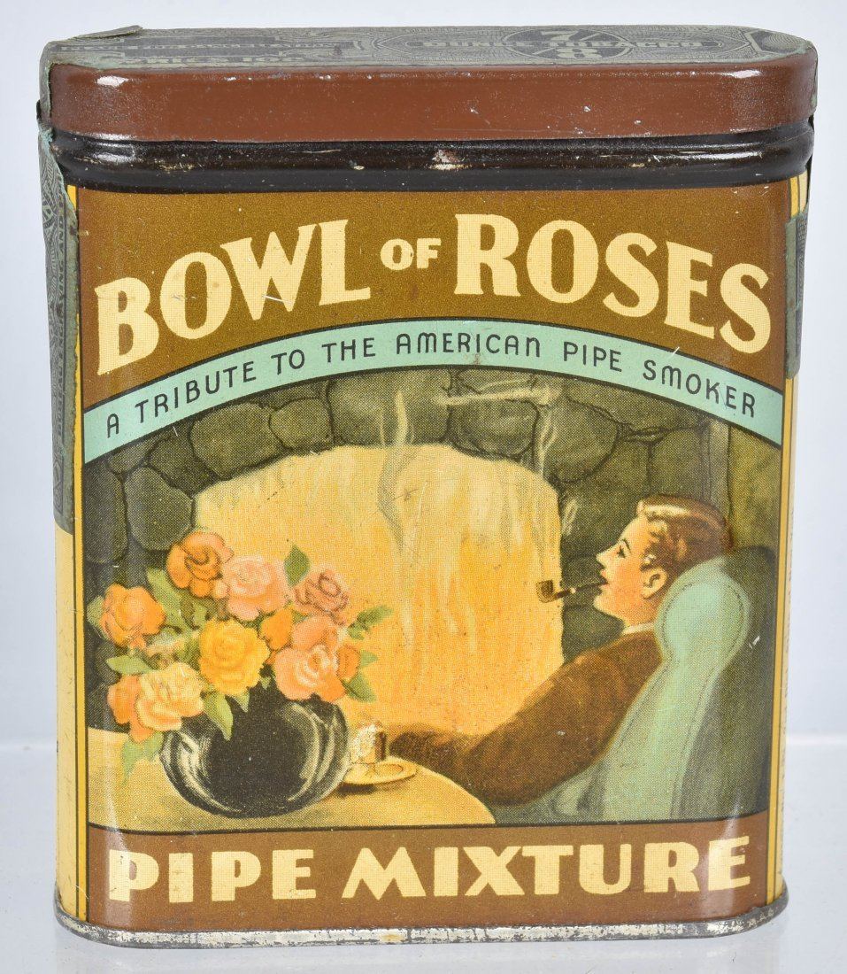 BOWL OF ROSES POCKET TOBACCO TIN