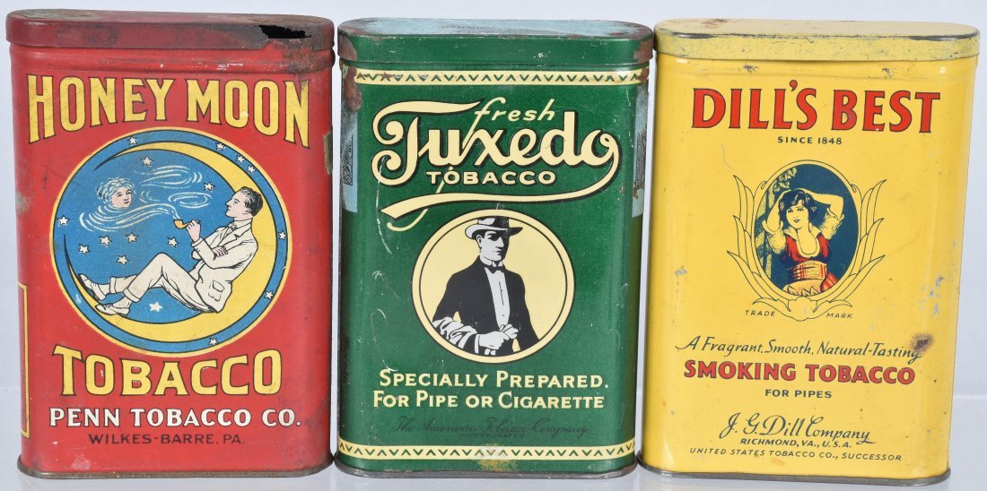 HONEYMOON, TUXUEDO, & MORE POCKET TOBACCO TINS