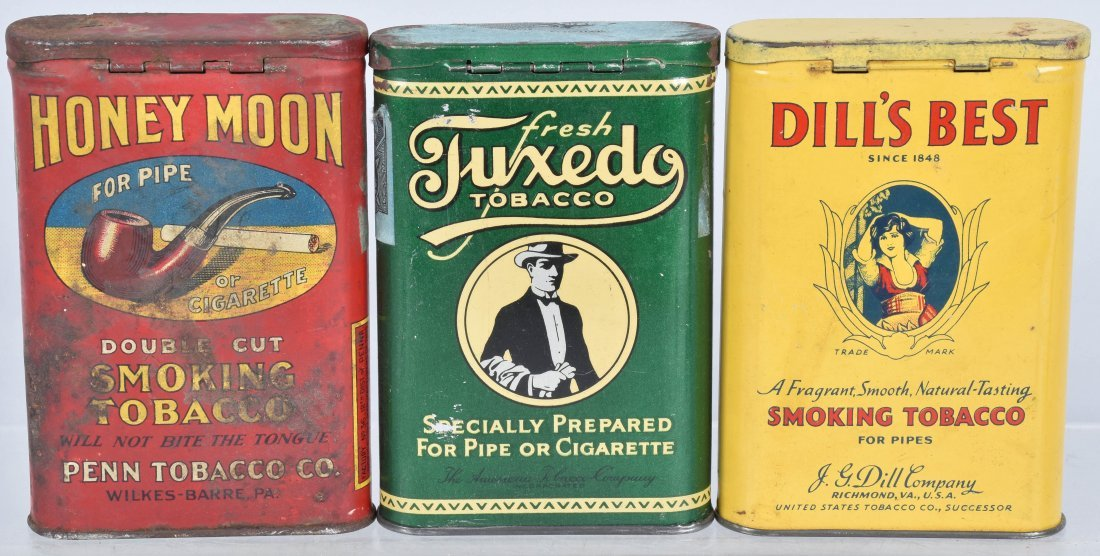 HONEYMOON, TUXUEDO, & MORE POCKET TOBACCO TINS - 2