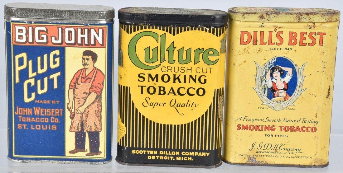 CULTURE, BIG JOHN, & MORE POCKET TOBACCO TINS
