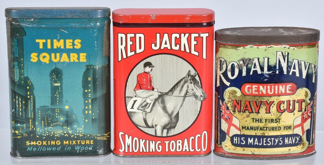 TIMES SQUARE, RED JACKET, & MORE TOBACCO TINS