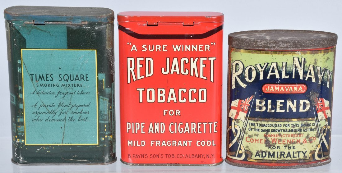 TIMES SQUARE, RED JACKET, & MORE TOBACCO TINS - 2