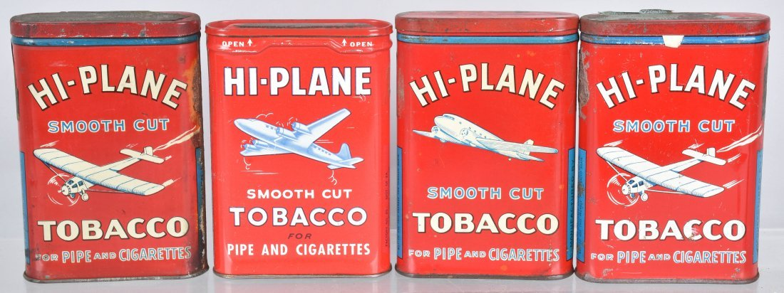4- HIGH-PLANE POCKET TOBACCO TINS