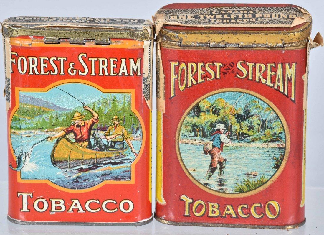 4- FOREST & STREAM POCKET TOBACCO TINS - 2