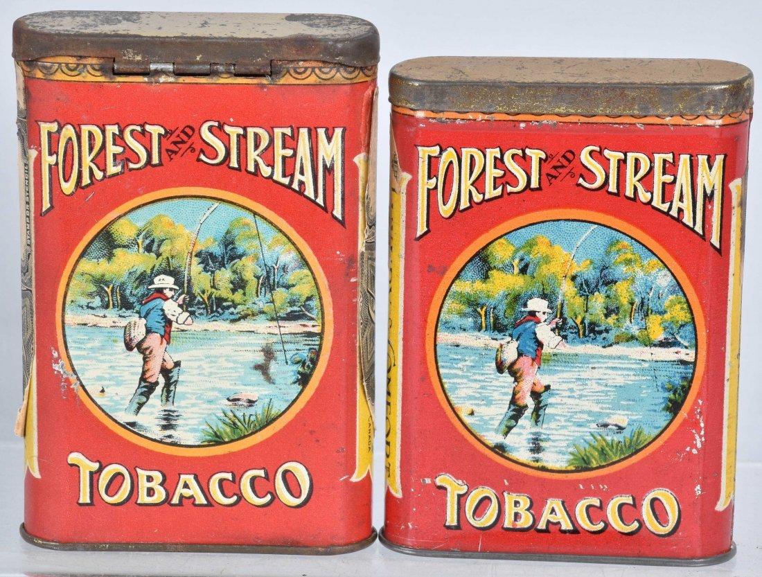 4- FOREST & STREAM POCKET TOBACCO TINS - 3